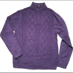 Midtown | Purple Knitted Sweater